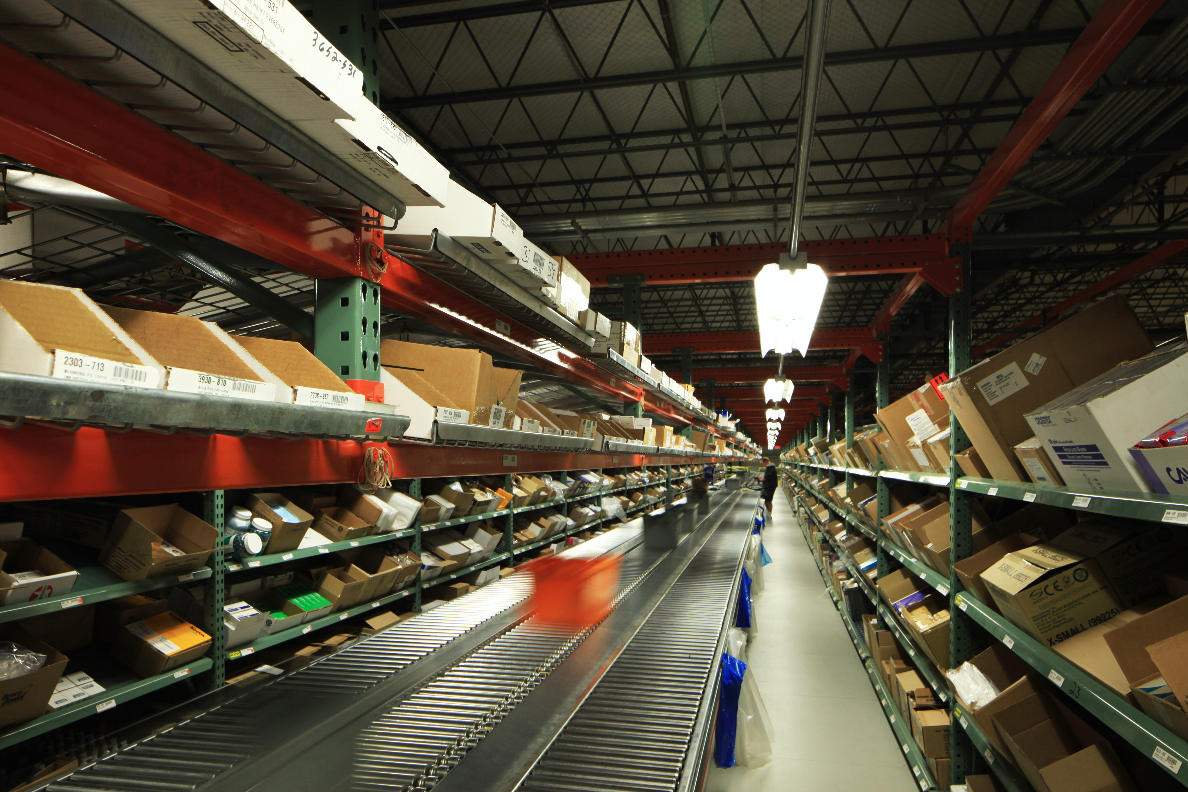 interlake carton flow shelving