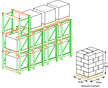Drive In Pallet Rack Illustration