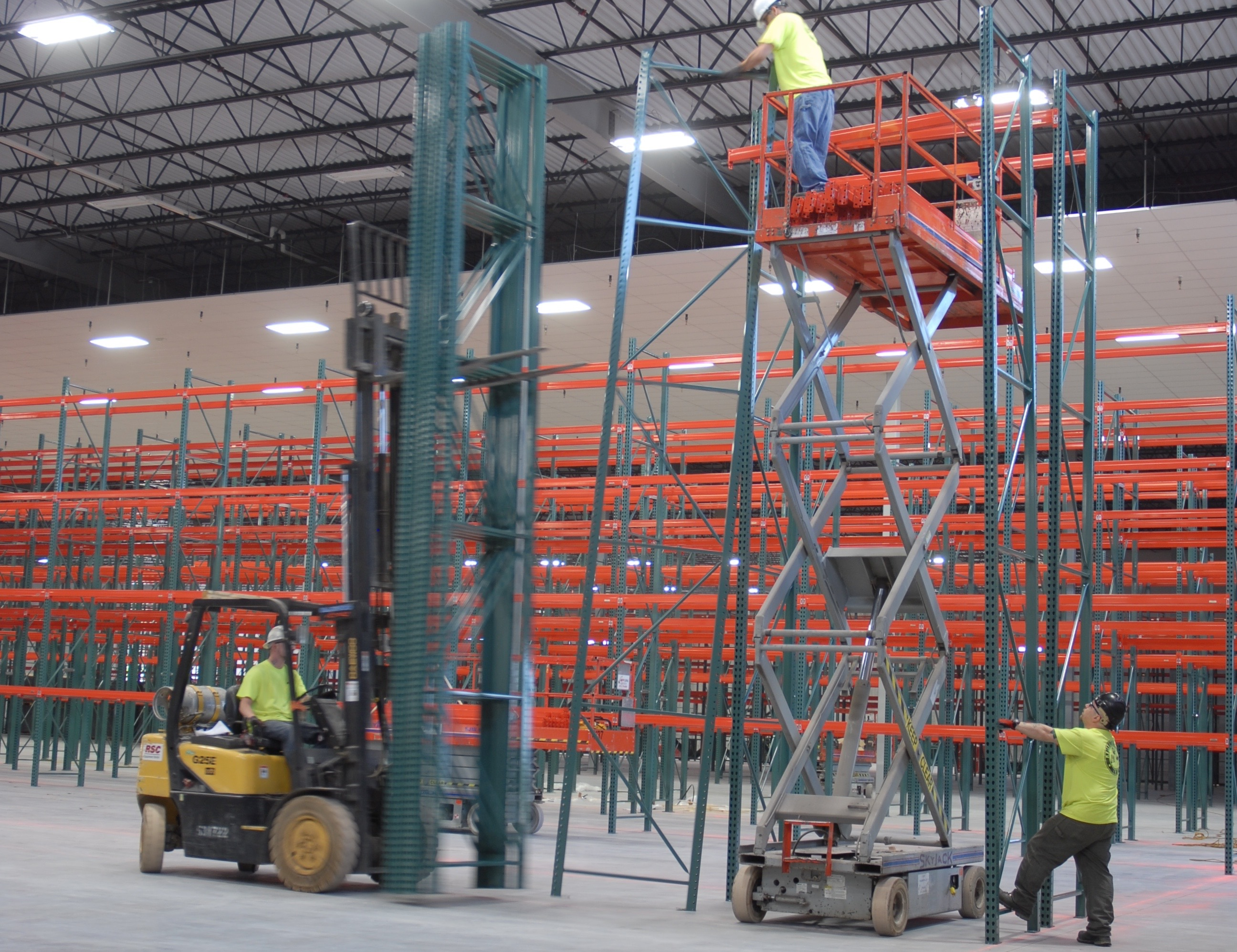 Isn certified pallet rack installer ak material handling Warehouse racking layout software free