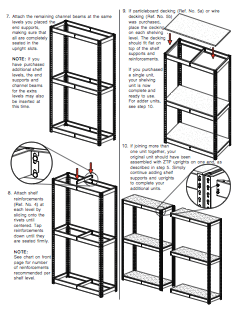 tennsco shelving instructions