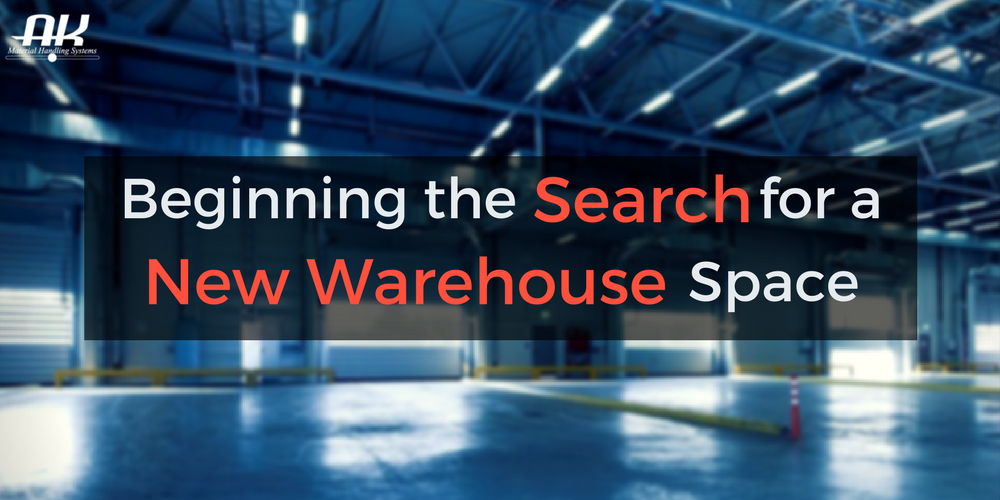 Beginning the Search for a New Warehouse Space Header