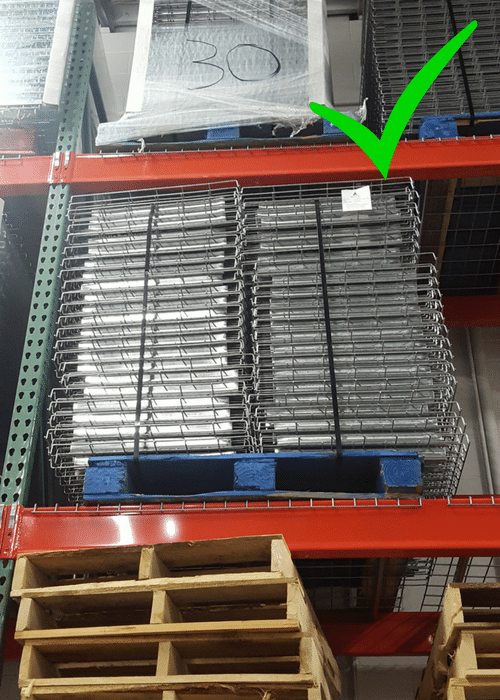 how to re-slot pallet racking