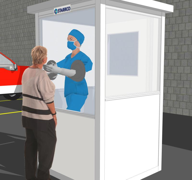 portable medical testing booth